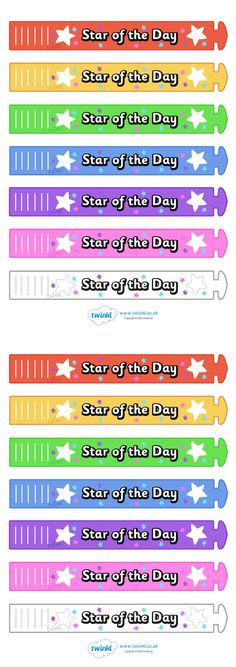 Twinkl Resources >> Wristband Awards Star Of The Day  >> Thousands of printable primary teaching resources for EYFS, KS1, KS2 and beyond! wristband, band, award, reward, award, certificate, medal, rewards, school reward, star of the day,