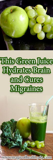 This Green Juice Hydrates Brain and Cures Migraines - Healthy remedies - Detox Drinks, Healthy Drinks, The Cure, Jus Detox, Nutrition, Health Remedies, Natural Health, Health And Beauty, Natural Remedies