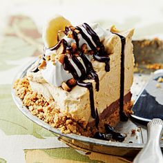 Peanut Butter-Banana Icebox Pie | MyRecipes.com