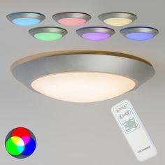 Deckenleuchte Captur RGB LED grau mit Fernbedienung #Kinderzimmerlampe #Deckenleuchte #Lampe #Innenbeleuchtung