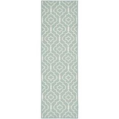 Safavieh Handmade Flatweave Dhurries Light Blue/ Ivory Wool Rug (2'6 x 6')   Overstock.com Shopping - The Best Deals on Runner Rugs