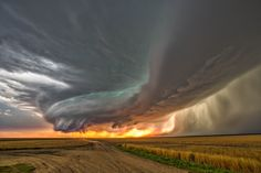 A supercell storm tears its way south from Colby, Kansas in July of 2014.