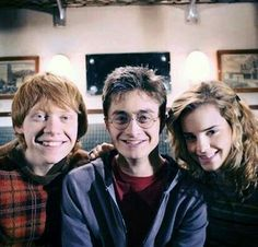 The Harry Potter Trio Harry James Potter, Mundo Harry Potter, Harry Potter Characters, Harry Potter Universal, Harry Potter World, Harry Potter Memes, Potter Facts, Harry And Hermione, Drarry