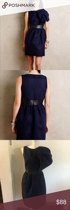 Amazingly beautiful Marginy Cinched Shift dress! This dress is beautiful! Bought to wear for a gala but ended up going a different direction. Size 4. Retailed at over $300! Anthropologie Dresses
