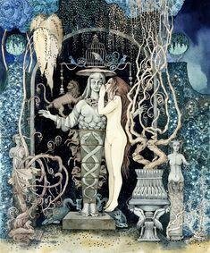 Fascinating Golden Age inspired book illustrations by Sveta Dorosheva.