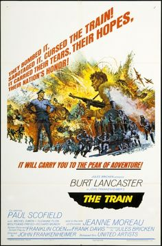"""""""The Train"""" (1964). Directed by John Frankenheimer. Starring Burt Lancaster and Paul Scofield"""