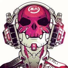 Image cyberpunk art 32 in Urban Fantasy album Character Concept, Character Art, Concept Art, Oni Maske, Cyberpunk Kunst, Desu Desu, Sci Fi Characters, Sci Fi Art, Character Design Inspiration