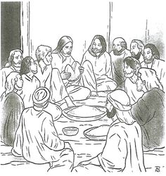 Lord's Supper @ https://s-media-cache-ak0.pinimg.com/originals/ce/1d/7c/ce1d7c7a6f4d81d226cf9f5b4584956f.jpg