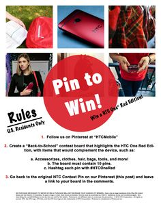 Enter for a chance to win your very own HTC One Red!  HTCOneRed Electronic b40b532f61101