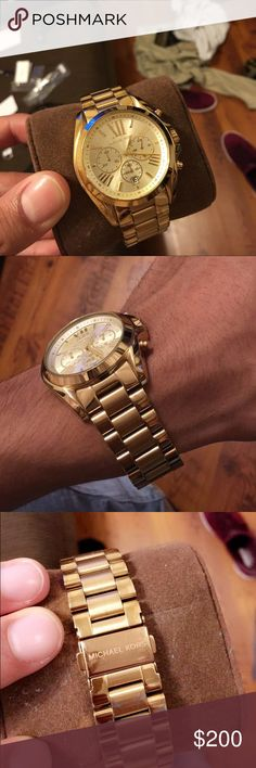 Michael Kors All Gold Men's watch Worn 3 times, comes with original box and extra links Michael Kors Accessories Watches