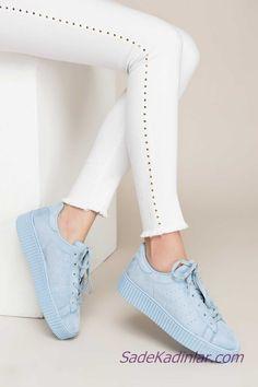 Sneakers Spor Ayakkabı Gümüş Bebek Mavisi Nubuk Bağcıklı Sneakers, Anime, Shoes, Fashion, Tennis, Moda, Slippers, Zapatos, Shoes Outlet
