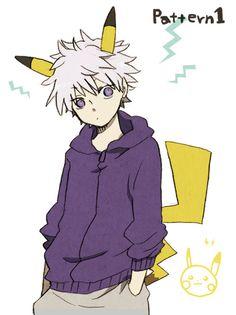 #hunter x hunter #pikachu #pachirisu #poemon #crossover #aa #cute #Killua Zoldyck
