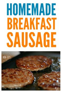 Easy Homemade Breakfast Sausage Recipe - you just need ground pork and spices you probably already have! Easy Homemade Breakfast Sausage Recipe - you just need ground pork and spices you probably already have! Breakfast Sausage Seasoning, Sausage Spices, Turkey Breakfast Sausage, Homemade Breakfast Sausage, Breakfast Biscuits, Sausage Gravy, Breakfast Sausages, Ground Beef Breakfast, Hashbrown Breakfast
