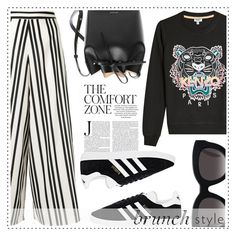 """""""Brunch Style"""" by alaria ❤ liked on Polyvore featuring adidas, Alice + Olivia, Kenzo, Mansur Gavriel, Muse and brunch"""
