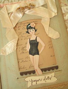 Paper dolls to scrapbook