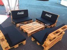 Bar espace conçu avec des palettes par Coca-Cola 3