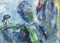 Irish & International Art, 26 September 2016</br><h1>Jack Butler Yeats SINGING UNDER THE CANOPY OF HEAVEN, 1950</h1>Sold for €85,000