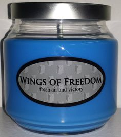 Wings of Freedom inspired candle from the anime Attack on Titan.