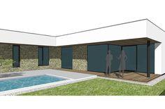 Sucastou domu je prestresena terasa a vonkajsi bazen