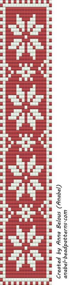 Схема браслета - станочное ткачество бисероплетение