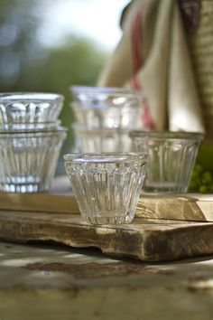 French jelly jars would make great wine tumblers or candle holders