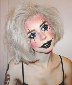 20 Cool Halloween Makeup Ideas | Goth creepy clown