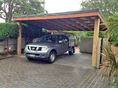 High quality timber carport. Aarons Pergola range is perfect for a modern carport in Australia