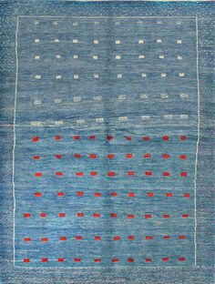 Persian-Gabbeh-Rug-Red-White-Blue