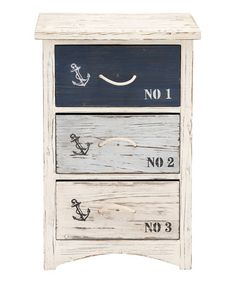 Another great find on #zulily! Three-Drawer Nautical Chest #zulilyfinds