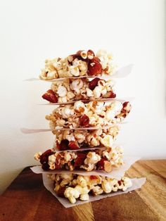 I Quit Sugar - Popcorn and Almond Crunch recipe + a giveaway! Healthy Treats, Yummy Treats, Sweet Treats, Healthy Popcorn, Healthy Food, Healthy Baking, Healthy Desserts, Eating Healthy, Low Sugar Recipes