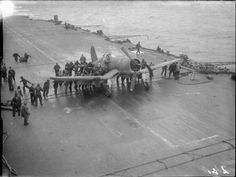 3 April Operation Tungsten: Navy dive bombers hit the Tirpitz Hms Furious, Rome, Snow Covered Trees, The Far Side, Above The Clouds, Ww2 Aircraft, Flight Deck, Navy Ships, Motor Boats