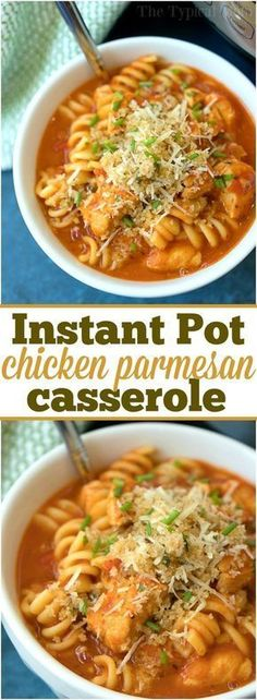 How we're connecting at dinnertime with Instant Pot chicken parmesan casserole! The classic dish you love cooked in just 10 minutes in your pressure cooker! ad #instantpot #chicken #recipe via @thetypicalmom