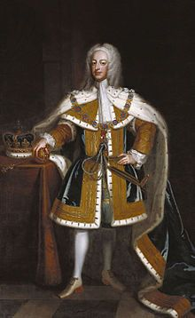 George II (1683 - 1760). Prince of Wales from 1714 to 1727, when he became king. He was married to Caroline of Ansbach and had several children.