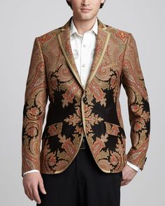Paisley Evening Jacket by Etro at Bergdorf Goodman.