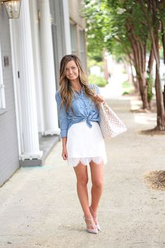 Chambray + Scalloped Lace (For All Things Lovely)