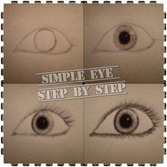Draw simple eye step by step nice