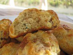 Cookies salés aux figues, parmesan et basilic