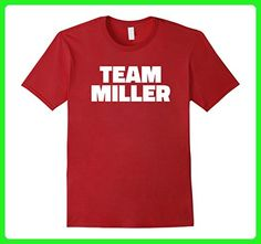 Mens Team Miller T Shirt - Last Name Family T-Shirt 3XL Cranberry - Relatives and family shirts (*Amazon Partner-Link)