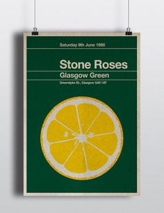 Stone Roses miniposter  mid century / by TheStereoTypist on Etsy, £10.00
