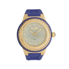 WATCH blue-gold, glitter, 53mm, silicon-s.steel
