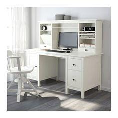 HEMNES Schreibtisch mit Aufsatz - weiß gebeizt - IKEA