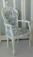 ★French  Lovely Toile de Jouy armchair★  Shabby Chic style  ★ Annie Sloan chair