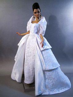 Wedding Bride Evening Silkstone Barbie Fashion Royalty Candi Dress Outfit Gown