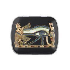 Eye Of Horus Egyptian Artwork - Jelly Belly Tin #mosaic #eyeofhorus #marble #Egypt #Egyptian