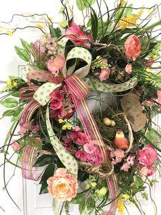 Springtime Wreath for Front Door Spring Wreath Front Door