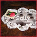 All Free Crochet Doily name patterns | Pacific Grove Oval Doily in Filet Crochet (FD526)