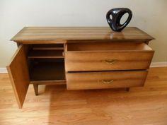 Mid Century Modern SOILD Wood Credenza/Buffet - $175