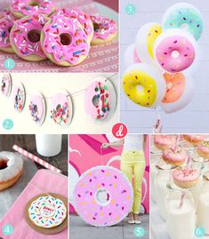 Donut Party - Laura Laura, DIY pinata, balloons, free printables