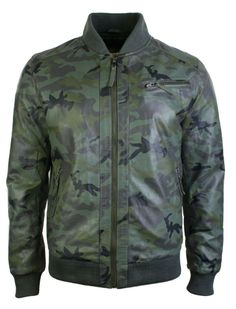 Mens Real Leather Military Army Camoflage Bomber Pilot Harrington Jacket Green.  #jacket #leather #style #clothing #fashion #menswear #mensstyle #shopping #online