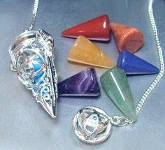 Chambered Multi Stone Triquetra Pendulum  140.00